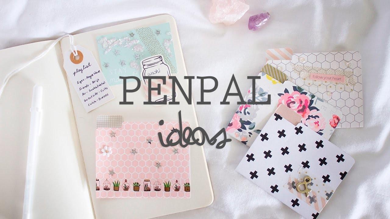 Penpal Letter Ideas  Diy