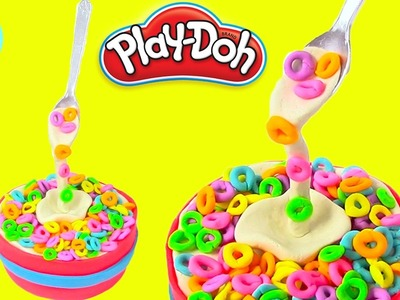Play Doh Cake and Ice Cream Cheerios Gravity Cake Rainbow Learning Diy Castle Toys
