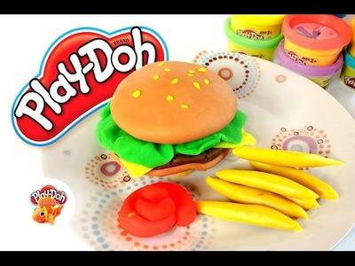 Play Doh | Play & Learn How to Make Hamburger & Hot Dog