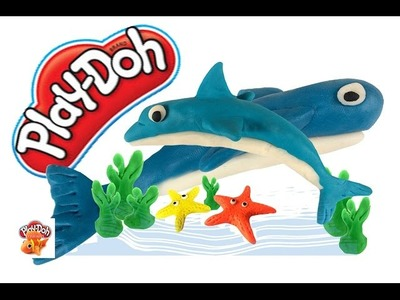 Play Doh | Play & Learn How to Make a Dolphin , Starfish & Whale .!