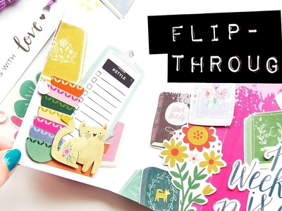 Reading Journal | Flip-Thru | DIY Mini Album Made From One Piece of Paper!