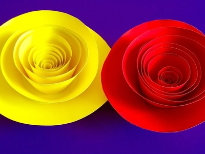Rolled Paper roses | Quilling paper flowers wall hanging decoration - Arts and crafts