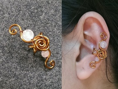 Rose earcuff - How to make wire jewelery 235