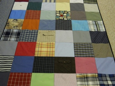 Scrappy Shirt Quilt Pt. 3: How To Bind The Quilt