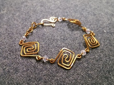 Square bracelet - How to make wire jewelery 232