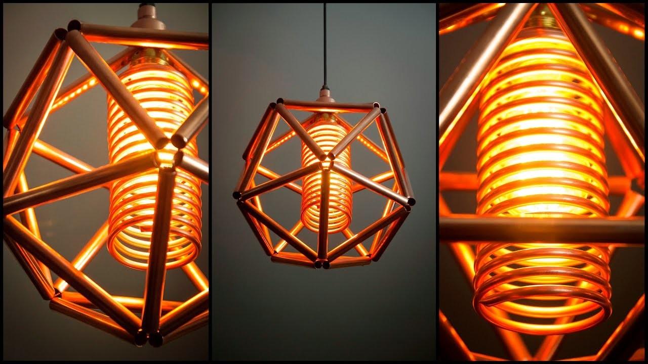 Steampunk DIY Industrial Pipe Geometric Lamp #5