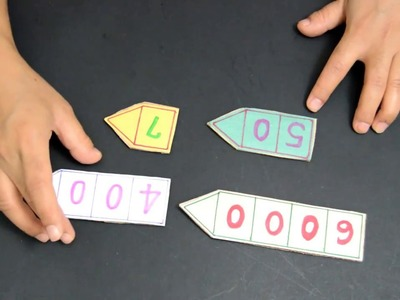 Teaching aid.How to teach place value. Place value arrow cards.TLM craft.DIY craft. Kids craft