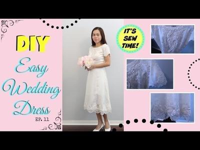 THE EASIEST DIY WEDDING DRESS