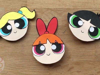 The Powerpuff Girls Bookmark DIY - Blossom Paper Crafts - Corner Bookmark Designs