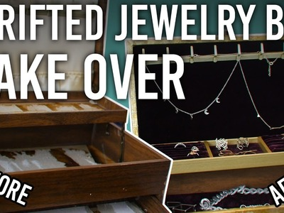 Thrifted Jewelry Box Make Over : DIY