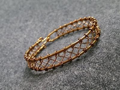 Wire knot bracelet - How to make wire jewelery 229