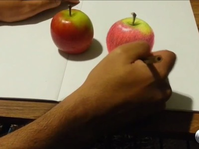 #1 How to Draw a 3D Apple - Step by Step with Colored pencils