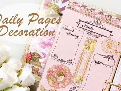 #4 April Daily Pages Decoration | Decorate with Me | Kikki.K Planner
