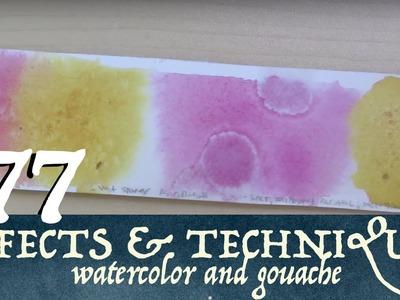 77 Effects, Techniques, & Tips for Watercolor & Gouache!