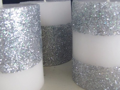 Create Sparkly Glitter Candles  - Home - Guidecentral