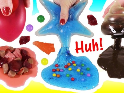 Cutting OPEN Squishy FINGER! Squishy POO SLIME! Homemade Scary Stress BALL! Gooey Starfish! FUN