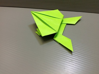 Daily Origami: 142 - Jumping Frog