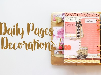 Daily Pages Decoration   June 2016   Decorate with Me   Kikki.K Planner