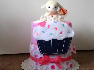 Diaper Cake, Two Tier: Sweet Treats Theme