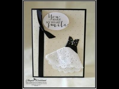 Doily Dress Card