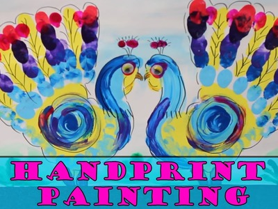 HandPrint Painting for Kids | Holi Special