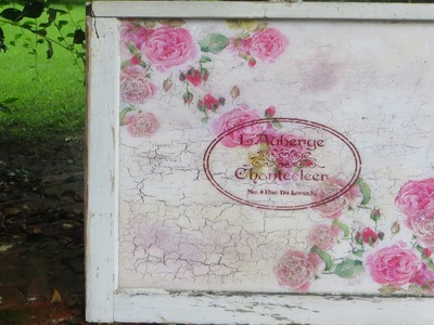 How to Decoupage a Shabby Chic Vintage Salvage Window