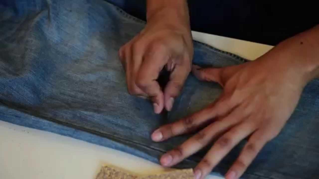 HOW TO DISTRESS DENIM. JEANS ( DIY ) - The Workshop by Vintage Manifesto