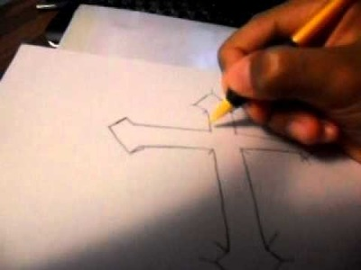 How to draw a cool cross