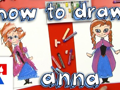 How To Draw Anna from Frozen (for young artists)