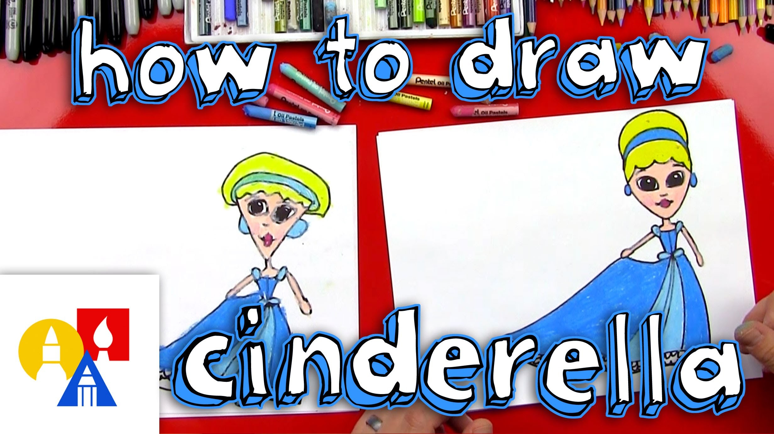 How To Draw Cinderella (for young artists)