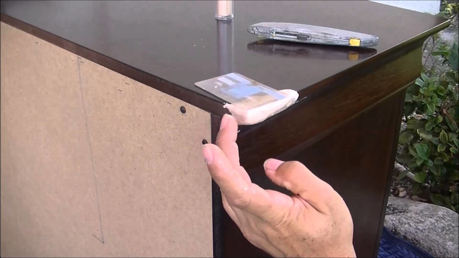 How to fix a dresser broken corner part 1 bonding, building, sander