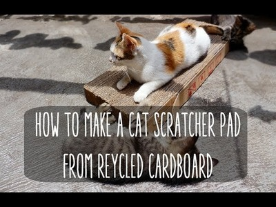 How to Make A Cat Scratcher Pad from Recycled Cardboard