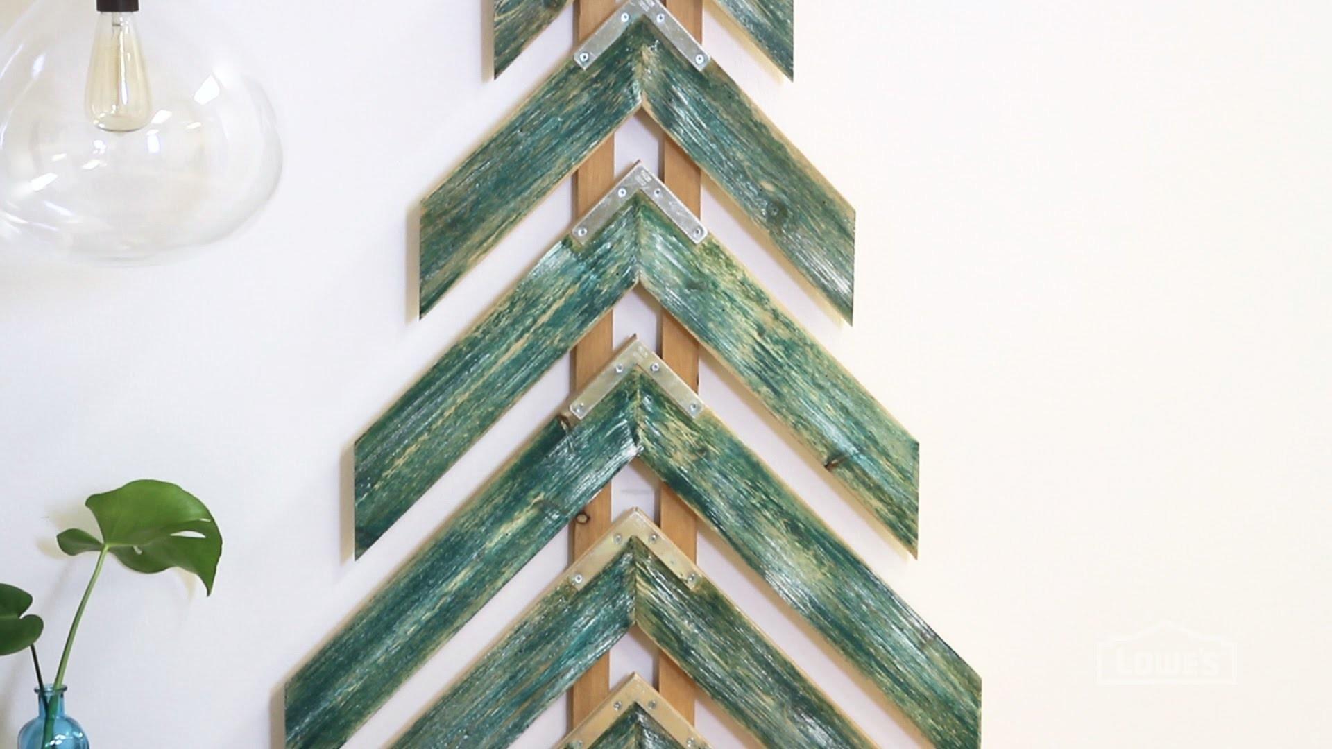 How to Make A Chevron Tree