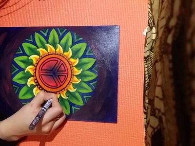 How to make a mandala with acrylics