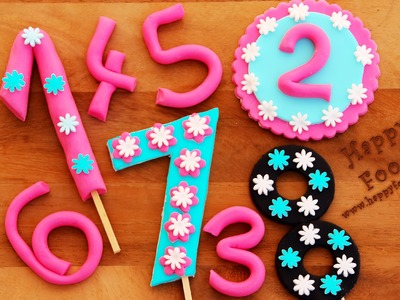 How to Make Fondant Numbers for Birthday Cake | HappyFoods
