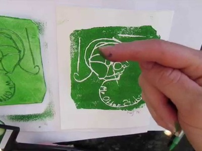 How to make Styrofoam prints I