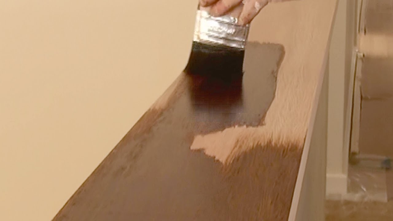 How To Stain Wood - How to apply wood stain and get an even finish using brush or rag technique