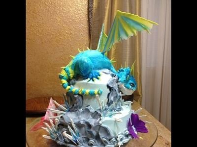 How To Train Your Dragon Cake- Cake Decorating- How To