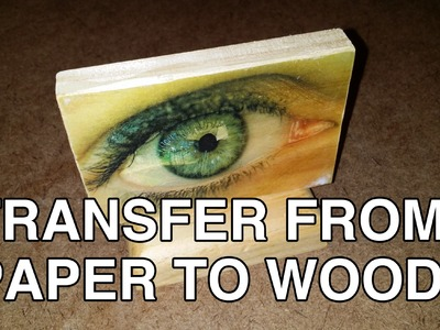 How to Transfer Photos to Wood - DIY