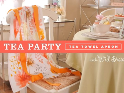 Make an easy-to-sew tea towel apron for a tea party