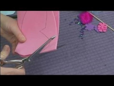 Making Foam Masks for Kid's Crafts : Cutting Foam for a Butterfly Mask