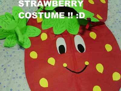 My Strawberry Costume for the nutrition month in our school. :)