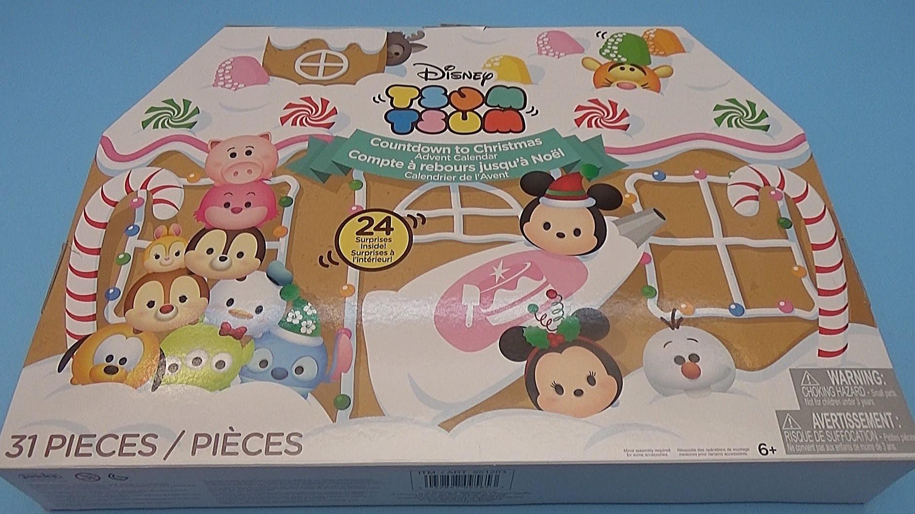 Opening a Disney Tsum Tsum Christmas Surprise Advent Calendar! Toys for Kids!