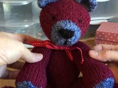 Original Knitted Toy Pattern - Little Bear
