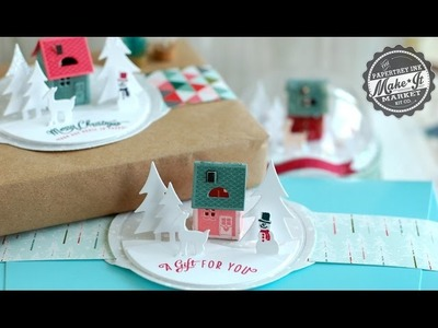 Papertrey Ink Make It Market: Tinsel & Tags Holiday House die