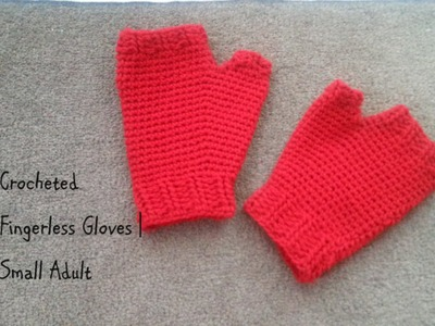 Part 1 | Simple Crocheted Fingerless Glove | Adult Small