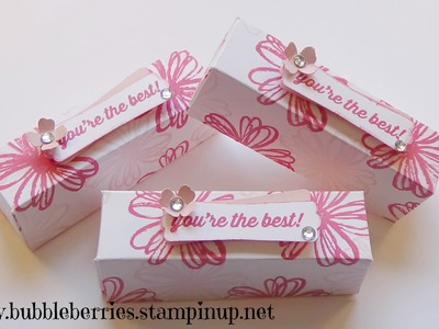 Stampin' Up! Lipstick.Gloss or Treat Gift Box using Flower Shop