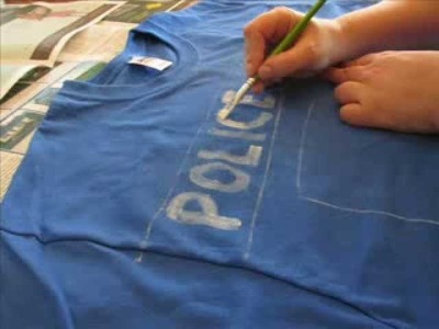 TARDIS Shirt DIY. on the cheap