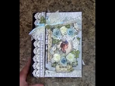 TUTORIAL PART 3 MINI ALBUM 8.5 X 6.5 BEAUTY IN BLUES DESIGNS BY SHELLIE 2