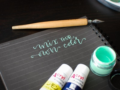 Using Gouache to Make Calligraphy Ink Colors